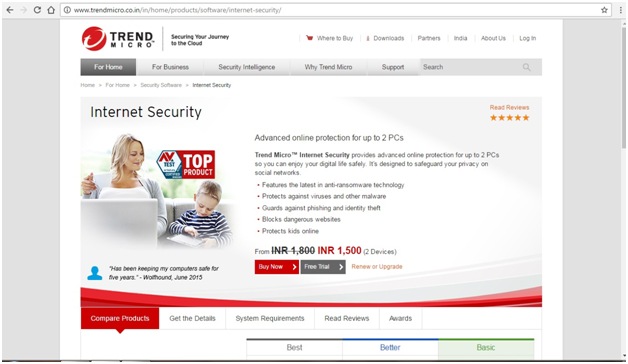 TrendMicro Internet Security 2017 Sales