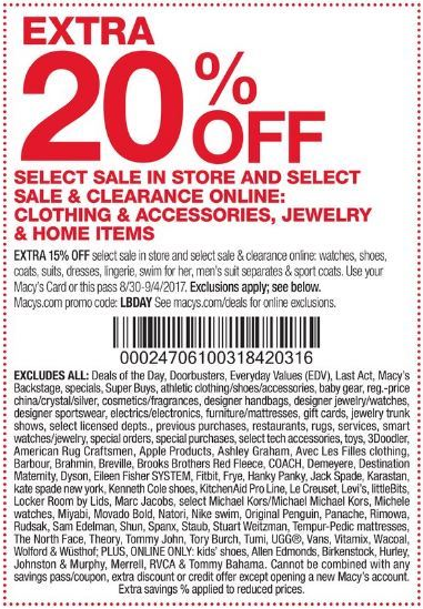macys in store coupon shoes