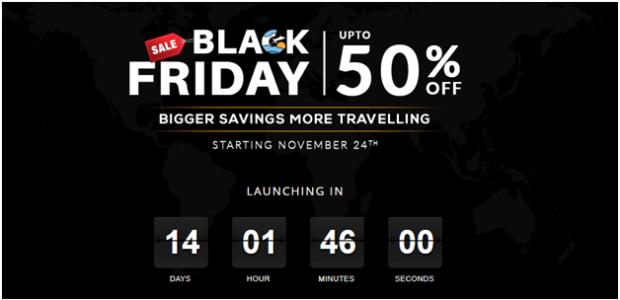 black friday 2017 travel tickets promo