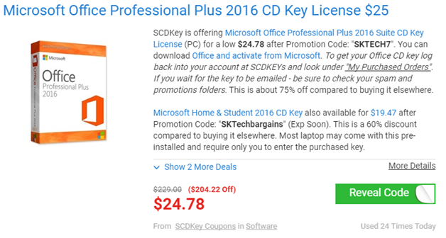 microsoft office professional 2016 coupon code
