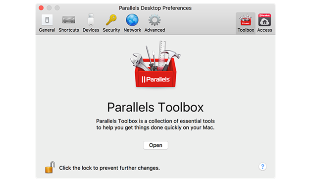 parallels desktop 13 for mac tool box
