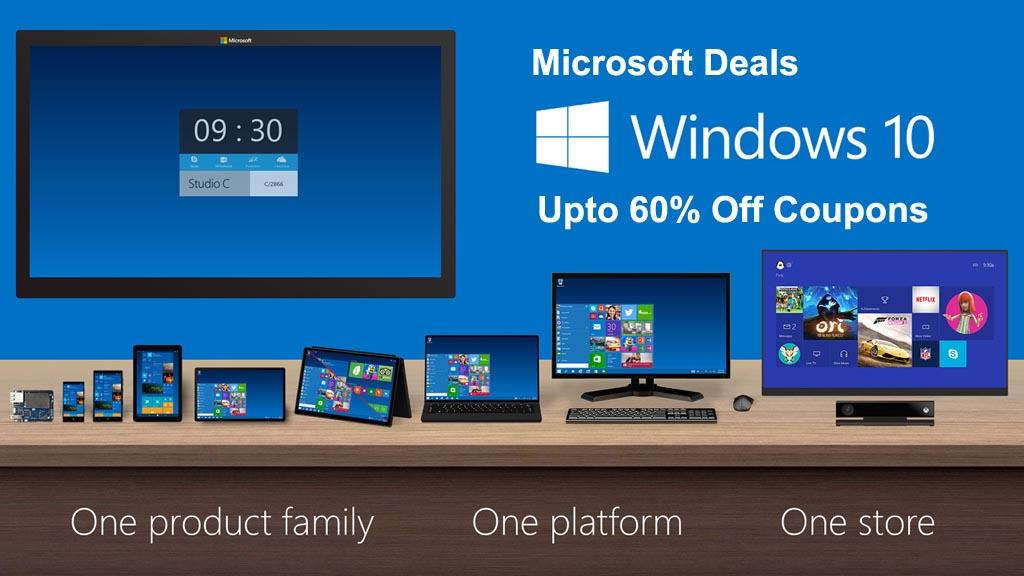 Microsoft Coupons and Deals upto 60% Off