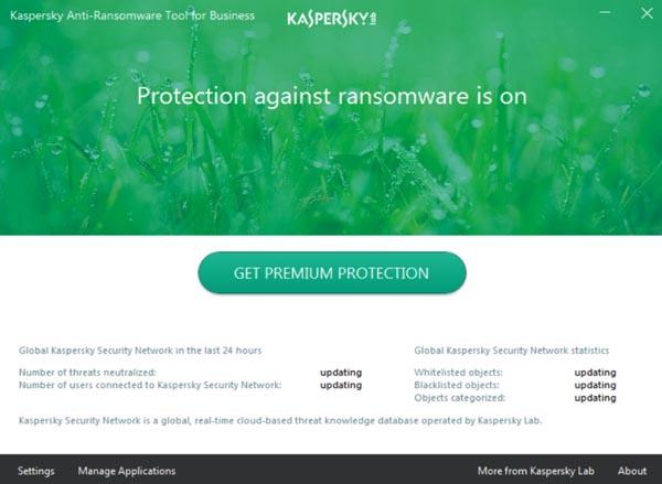 Kaspersky Anti-Ransomware protection