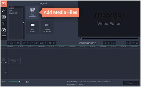 Movavi how to cut video 1 screen