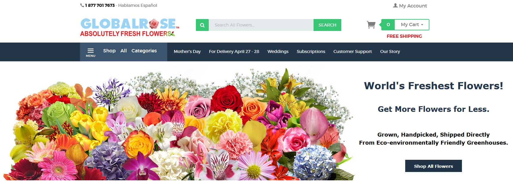 Globalrose online store overview