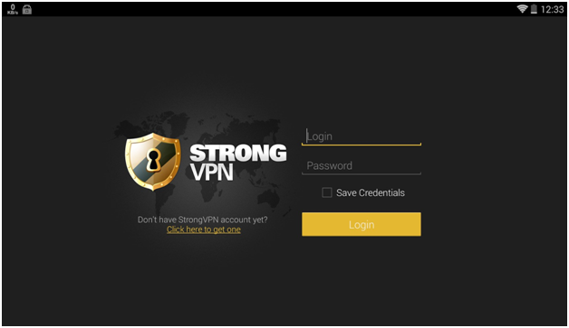 StrongVPN Review login page