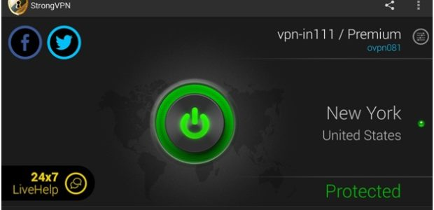 StrongVPN Status Protected