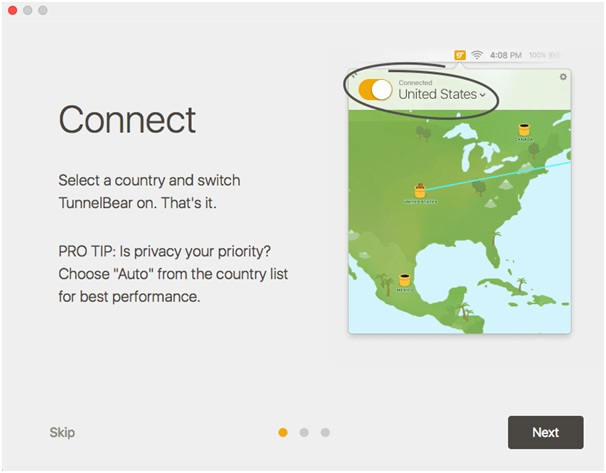 TunnelBear VPN Connect