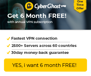 CyberGhost VPN Coupon Exclusive Discount